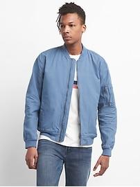 Color Linen Bomber Jacket