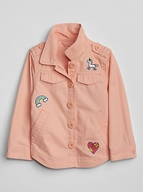 Embroidery Patch Shirt Jacket
