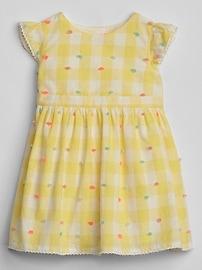 Swiss-Dot Gingham Dress