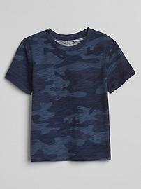 T-shirt à imprimé camouflage