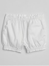 Scalloped Bubble Shorts in Poplin