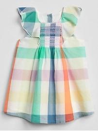 Plaid Flutter Dress