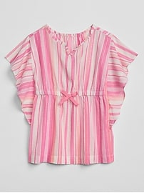 Stripe Poncho Cover-Up