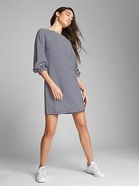 Robe droite en tricot ponte à manches longues
