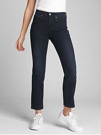 Washwell Mid Rise Classic Straight Jeans in 360 Stretch