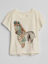 Graphic Hi-Lo T-Shirt