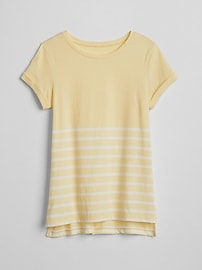 T-shirt rayé à ourlet étagé