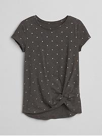 T-shirt à ourlet noué