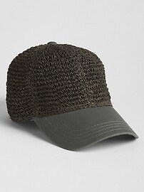 Straw Baseball Hat
