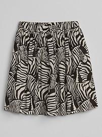 Print Flippy Skirt