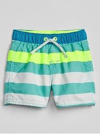 Stripe Swim Trunks