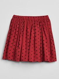 Dot Flippy Skirt