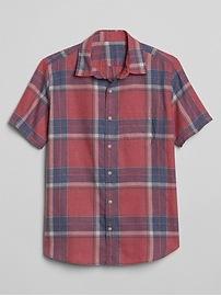 Short Sleeve Twill Utility Shirt