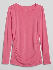 Maternity GapFit Breathe long sleeve crew tee
