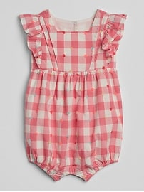 Gingham Shorty One-Piece