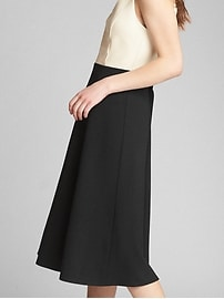 Fit and Flare Midi Tank Dress in Ponte
