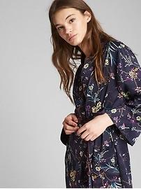 Dreamwell Print Robe in Satin