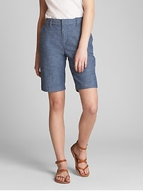 "10"" Bermuda Shorts in Stretch Chambray"