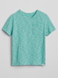 T-shirt col en V à manches courtes