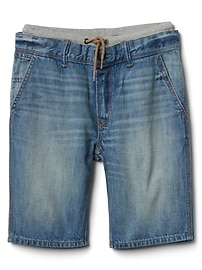 "Gap for Good 8.5"" Ribbed-Waist Denim Shorts"
