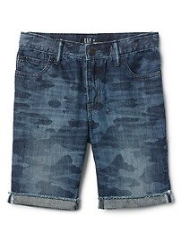 "Gap for Good 8.5"" Camo Denim Shorts"