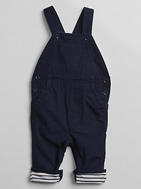 Stripe-Lined Overalls