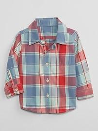Chemise à poche à carreaux