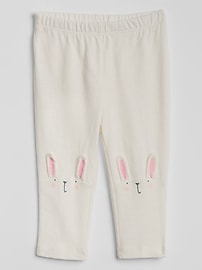 Bunny Patch Leggings in Stretch Jersey