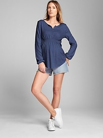 Maternity Smock Top in Slub Jersey