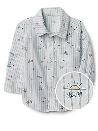 Graphic Oxford Shirt