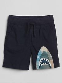 "4.5"" Print Pull-On Shorts"