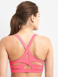 Medium impact breathe sports bra