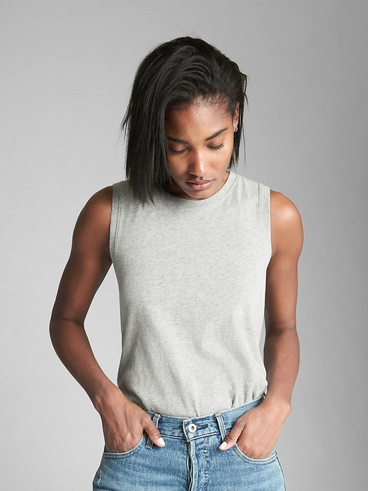 Tank Top In Cotton Jersey by Gap