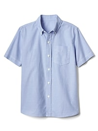 Uniform short sleeve oxford button-down shirt