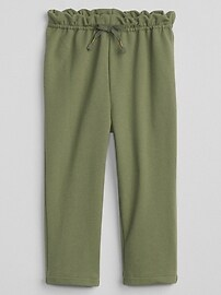 Paperbag-Waist Pants in French Terry