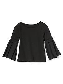 Mix-fabric bell top