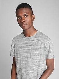 T-shirt ras du cou indispensable à manches courtes teint par espacement