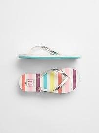 Glitter Stripe Flip Flops