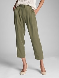 Pleated Ankle Pants in TENCEL&#153