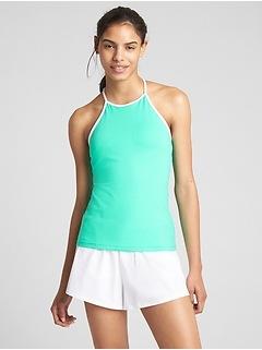 Camisole de tennis GapFit à encolure haute avec soutien-gorge intégré