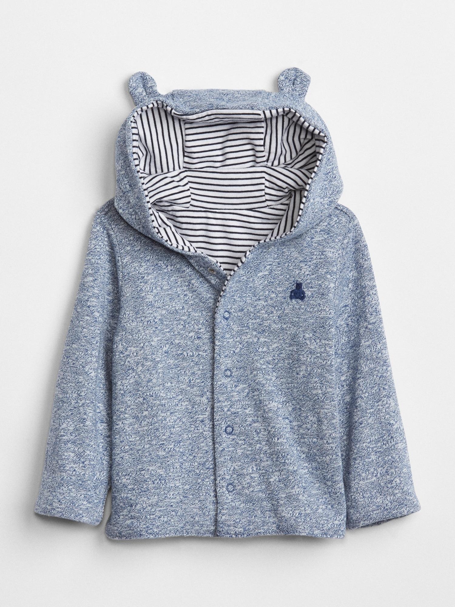 8bb2d60b747a5 Baby Favorite Reversible Bear Hoodie Sweatshirt