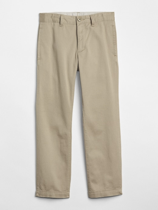Uniform Straight Khakis In Stretch by Gap