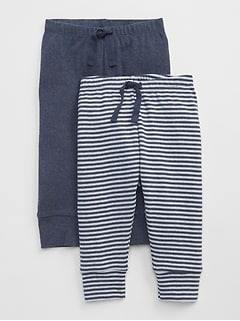 Baby First Favorite Stripe Knit Pants (2-Pack)
