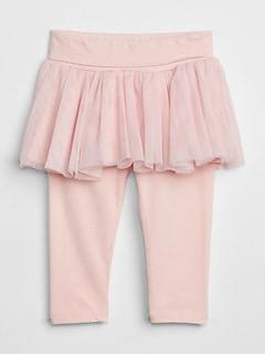 Baby Leggings With Tulle Skirt Trim