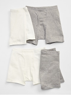 Kids Solid Boxer Briefs (4-Pack)