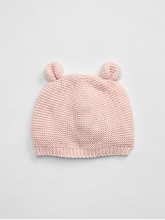 Bonnet d'ours en tricot pour bébé