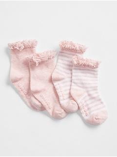 Baby First Favorite Crochet Trim Socks (2-Pack)