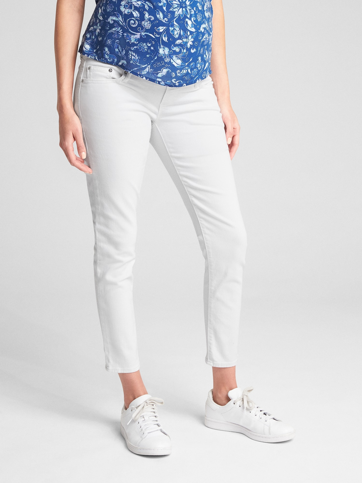 6d70039aa5061 Maternity Full Panel True Skinny Jeans | Gap
