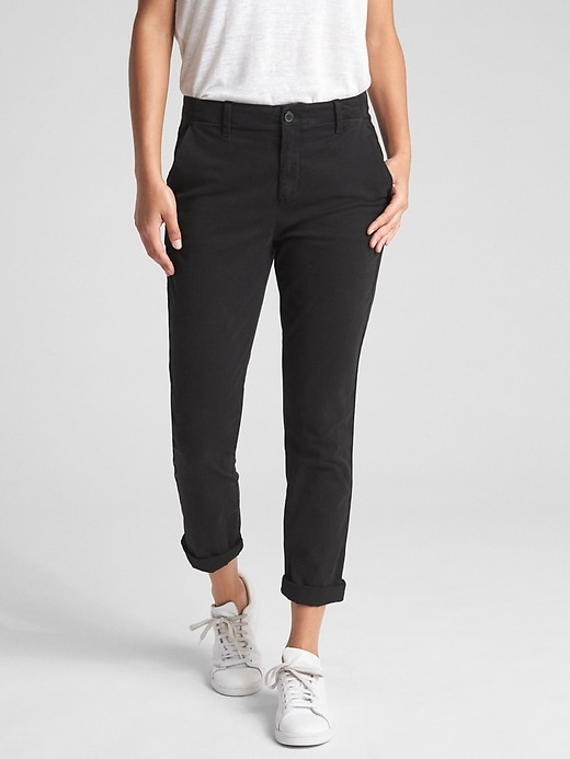 Girlfriend Twill Stripe Chinos In Color by Gap