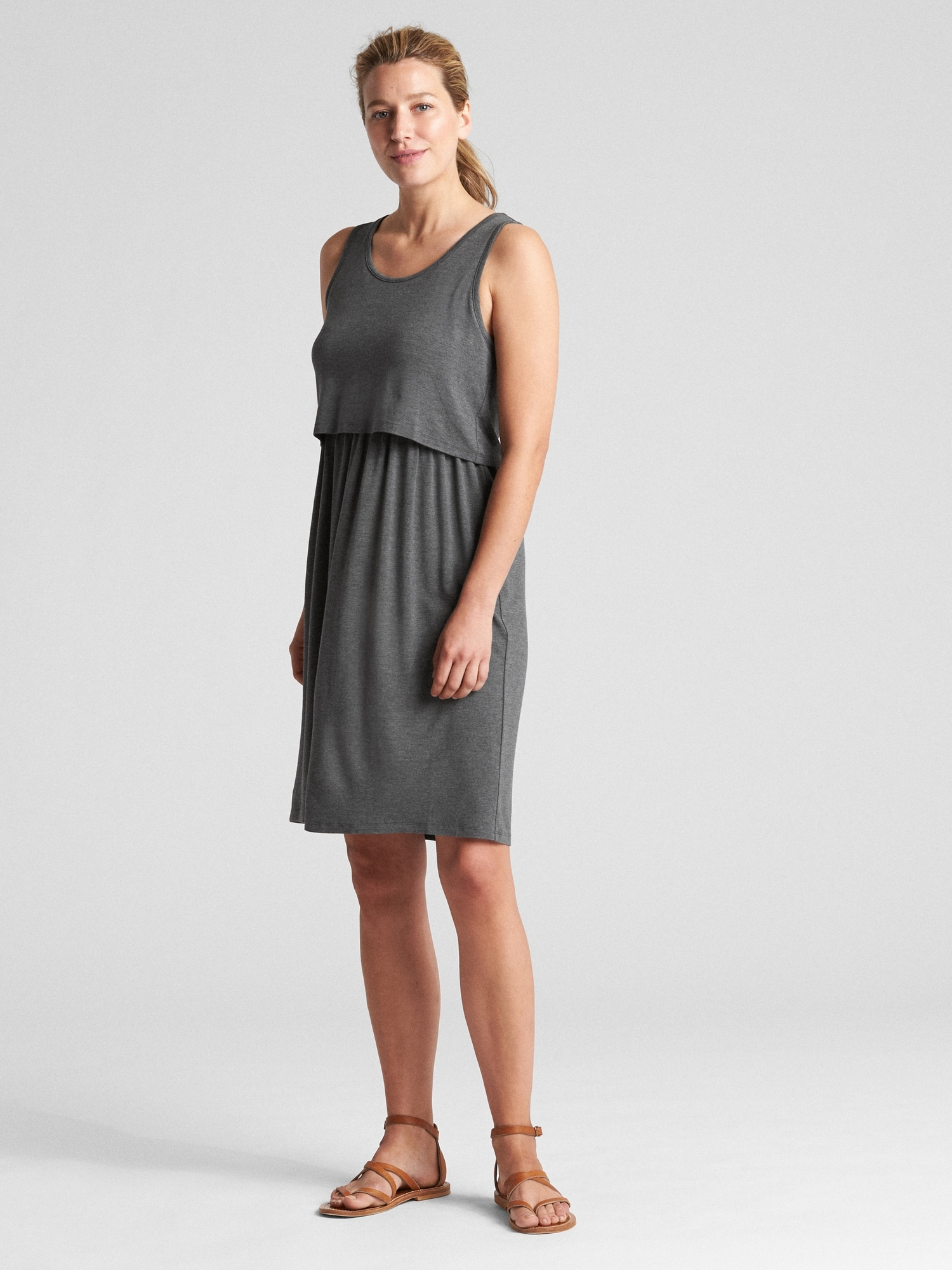 85d20202defa6 Maternity Layered Nursing Dress